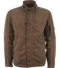 c.p company chrome re-colour lens jacket - khaki 06cmowo791000004s