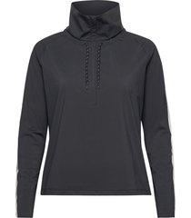 crisp half zip sweat-shirt tröja grå casall