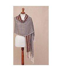 100% alpaca shawl, 'chevron mountain' (peru)
