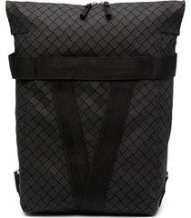 bottega veneta faux leather backpack - black