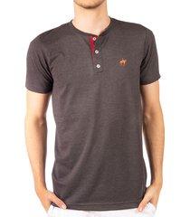 camiseta fondo entero con perilla en contraste negro ref. 107021119