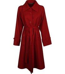 dolce & gabbana belt-tie long-length coat