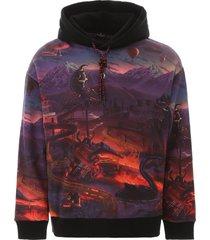 marcelo burlon multicolor printed hoodie