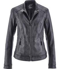 giacca in similpelle stile biker (nero) - bpc bonprix collection
