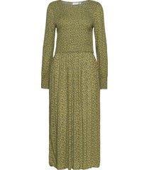 dress w. smock in small flower prin maxiklänning festklänning grön coster copenhagen