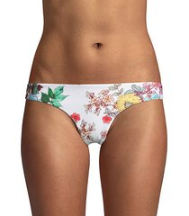 floral ruched back bikini bottom