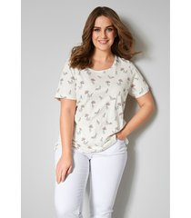 shirt janet & joyce ecru/groen/roze
