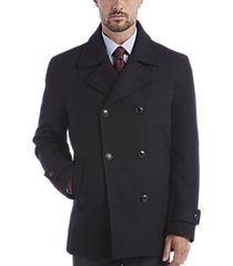 egara dark navy double-breasted modern fit peacoat