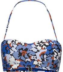 thrift shop bustier bandeau bikinitop blå seafolly