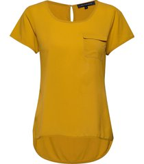 abena light round neck top t-shirts & tops short-sleeved gul french connection