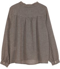 camicetta in viscosa e lana, modello: vichy - collezione donna -