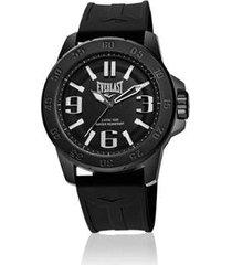 relógio everlast esporte e696 47mm silicone masculino