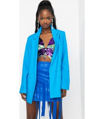 akira in your face blue blazer