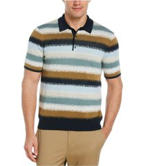 men's striped sweater short sleeve polo shirt