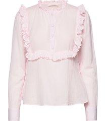 jacqueline shirt blouse lange mouwen roze nué notes