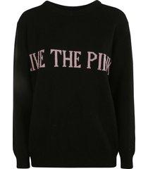 alberta ferretti life the pink embroidered sweater