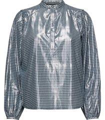 notting terni shirt blouse lange mouwen blauw bruuns bazaar