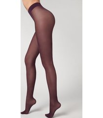 calzedonia 30 denier total comfort soft touch tights woman violet size 3
