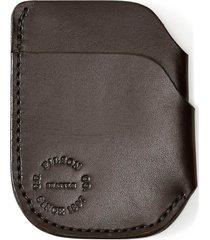 men's filson leather cash & card case - brown