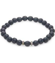 onyx stretch beaded bracelet