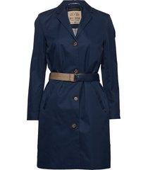 royce parca jacket trenchcoat lange jas blauw mos mosh
