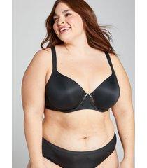 lane bryant women's cool bliss lightly lined balconette bra 44h black