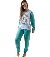 pijama longo 4 estaã§ãµes feminino adulto longo variado azul - azul - feminino - poliuretano - dafiti