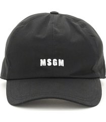msgm baseball cap with logo embroidery