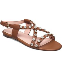 strappy buckled cora with studs shoes summer shoes flat sandals brun j.crew