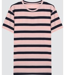 camiseta para hombre franjas color naranja, talla l