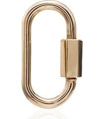 marla aaron '14k yellow gold regular lock charm - metallic