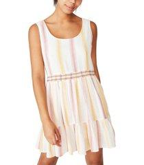 cotton on woven bronwyn sleeveless tiered mini dress