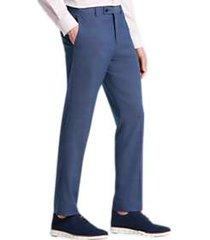 paisley & gray slim fit suit separates dress pants blue chambray