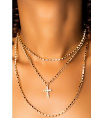 akira bless up bling layered necklace