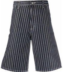 carhartt wip stripe-print bermuda shorts