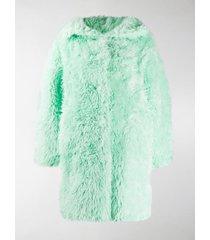 balenciaga faux fur coat