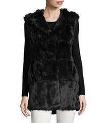 plush dyed rabbit fur vest
