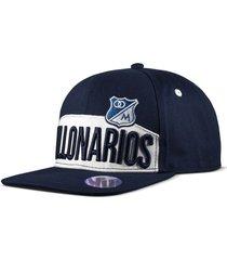 gorra oficial plana azul oscura millonarios otocaps fmic-006 azul oscura