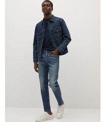 tom soft touch lyocell tapered-fit jeans