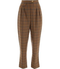 nanushka check trousers