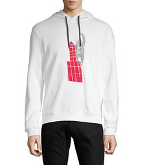 graphic cotton hooded sweatshirt