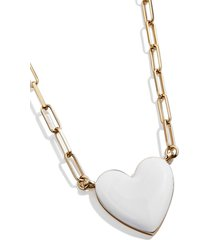 women's baublebar heart pendant necklace