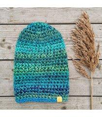 crazycolor czapka turkus