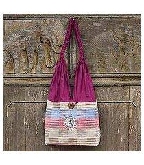 cotton handbag, 'siamese blush' (thailand)
