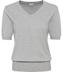 maglione a maniche corte con scollo a v (grigio) - bodyflirt