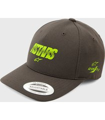 gorra gris-verde alpinestars angless velo