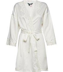 lrl signature lace kimono robe 97 cm morgonrock creme lauren ralph lauren homewear