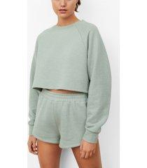 mango women's crop sweatshirt