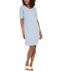 karen scott mitered-stripe dress, created for macy's