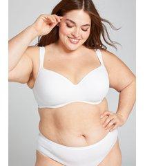 lane bryant women's smooth lightly lined balconette bra 42d white